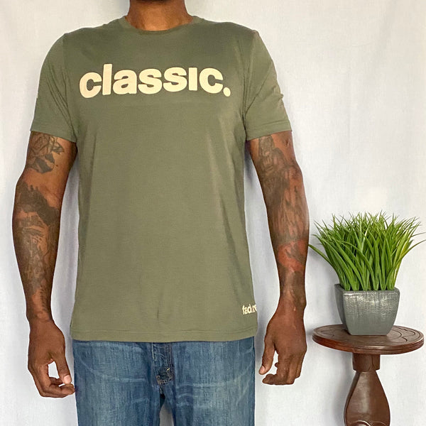 *New Arrival* Tan on Army Green Tag Line Unisex