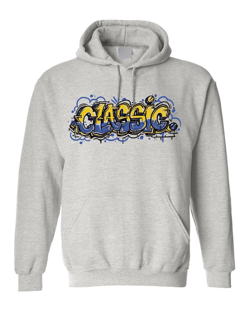 *Limited Edition* Blue and Gold Graffiti Hoodie