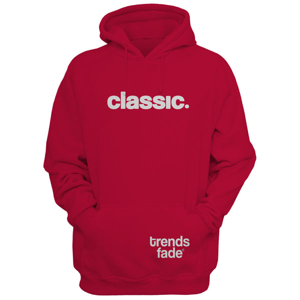 white on red hoodie