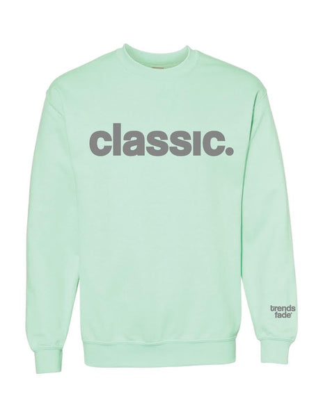 *New Arrival* grey on mint crewneck