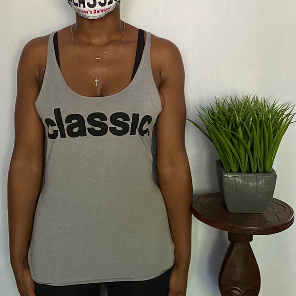 *New Arrival* black on grey ladies tank