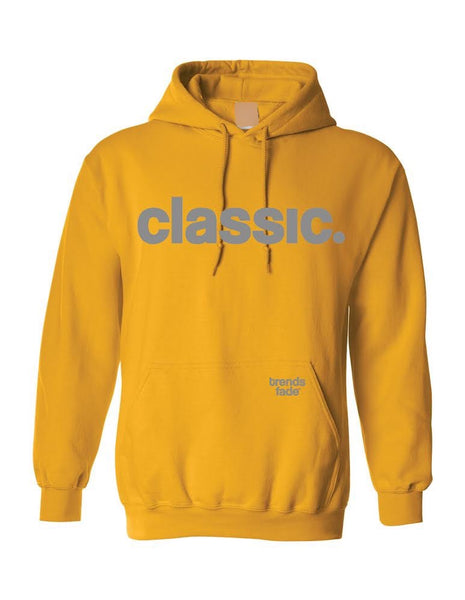 *New Arrival* grey on yellow hoodie