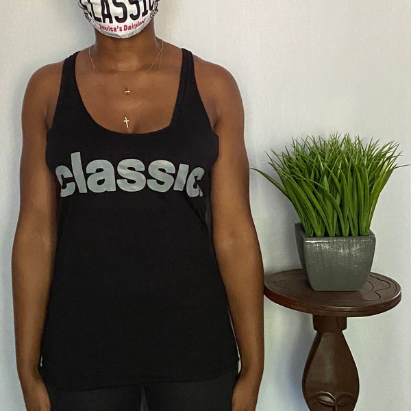 *New Arrival* grey on black ladies tank