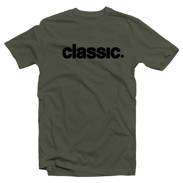 black on army green unisex
