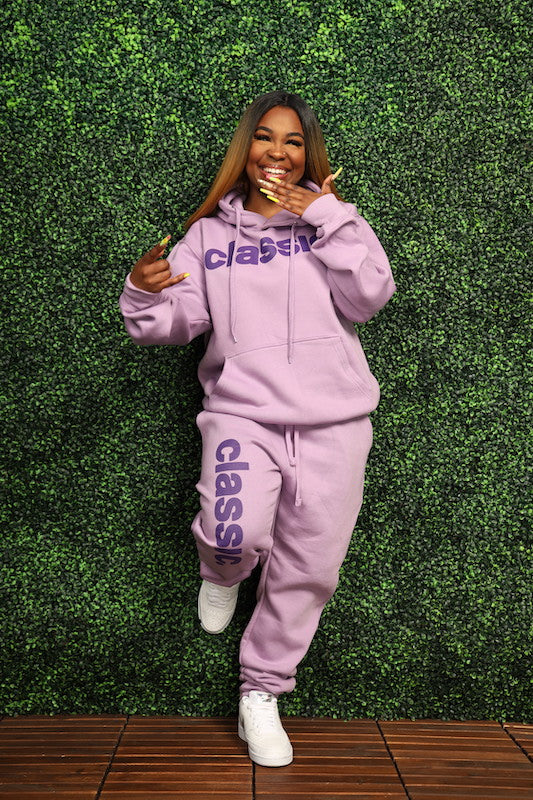 *New Arrival* Purple on Purple Hoodie Joggers Set