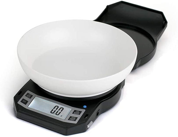 scale features, large backlit, weigh ingredients