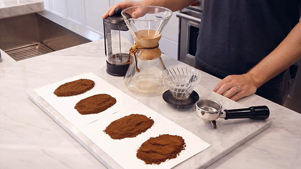 Coffee Grind Sizes For Popular Brew Methods