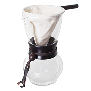Hario Drip Coffee Pot Pour Over with Woodneck