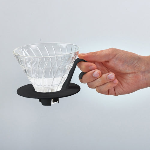 Hario V60 Glass Coffee Dripper Pour Over In Black - Nomad Coffee Club