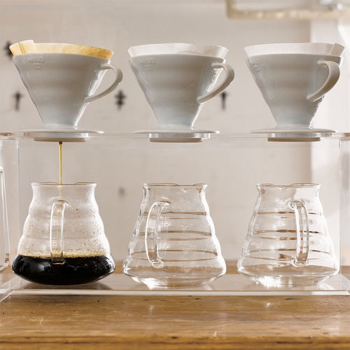 Hario V60 Glass Range Coffee Server (600ml, Clear) - Nomad Coffee Club
