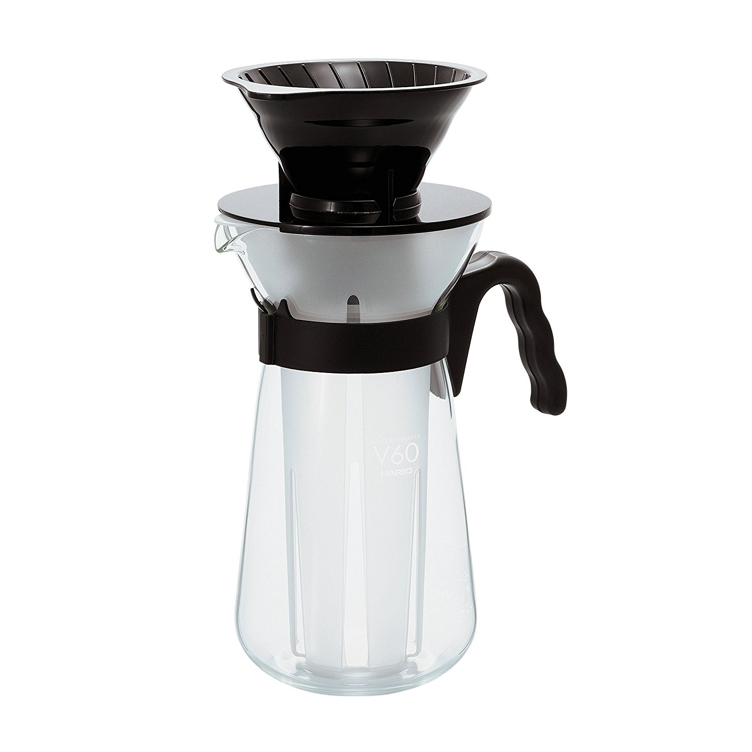 Hario V60 Fretta Ice Coffee Maker / Brewer in Black (VIC-02B) - Nomad Coffee Club