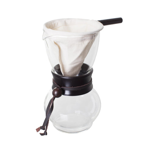 Hario Drip Coffee Pot Pour Over with Woodneck (1-2 Cups) - Nomad Coffee Club