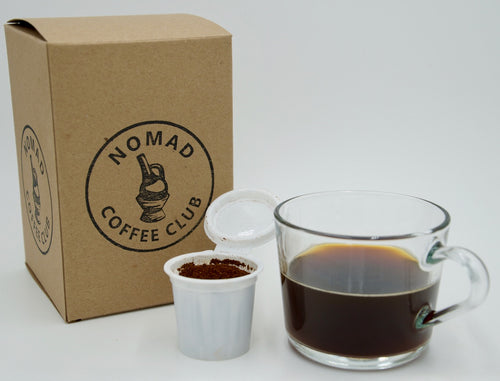 Specialty Coffee Pods (K-Cup) Monthly Subscription Box - Nomad Coffee Club