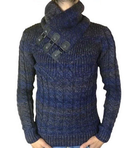 Pattern Knit Navy
