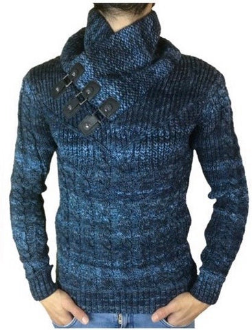 Pattern Knit Blue