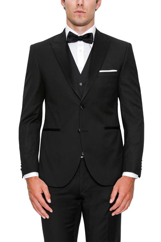 Apollo Dinner Suit Peak Black