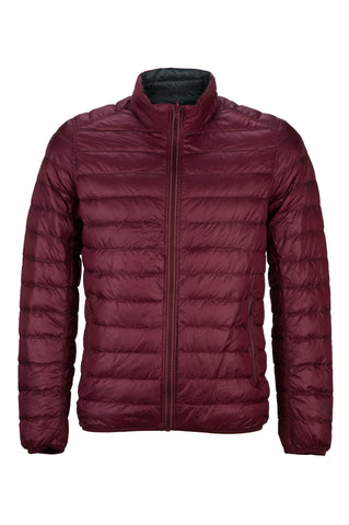 Lightweight Reversible Jacket Burgundy/Charcoal