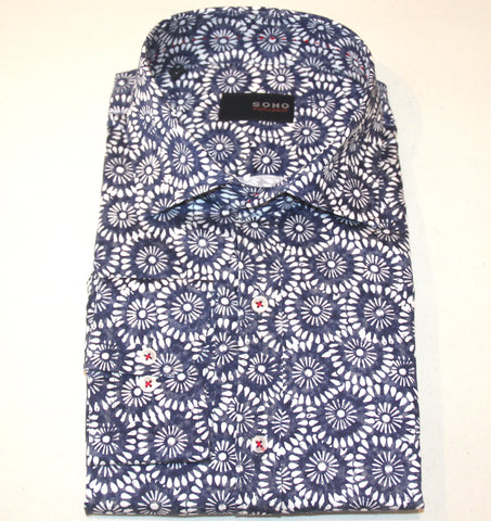 Chance Navy Floral Shirt