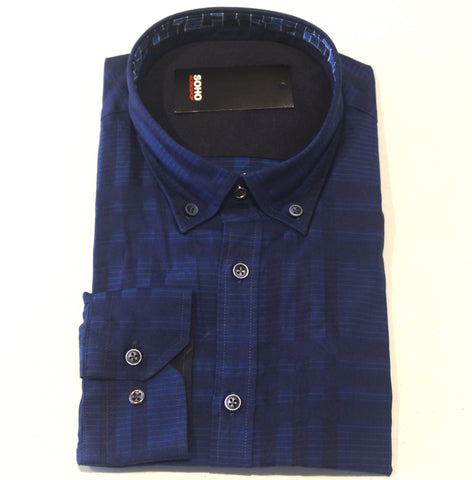 Lennon Shirt Blue Check
