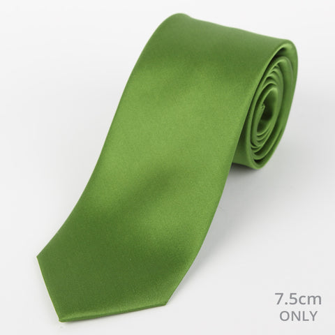 Silk Plain Tie Green