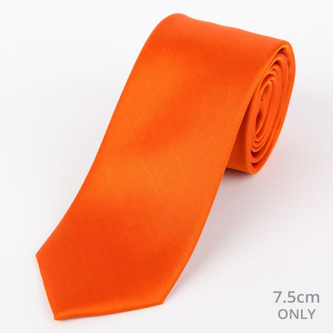 Silk Plain Tie Orange