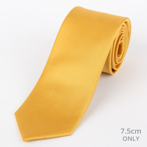 Silk Plain Tie Gold