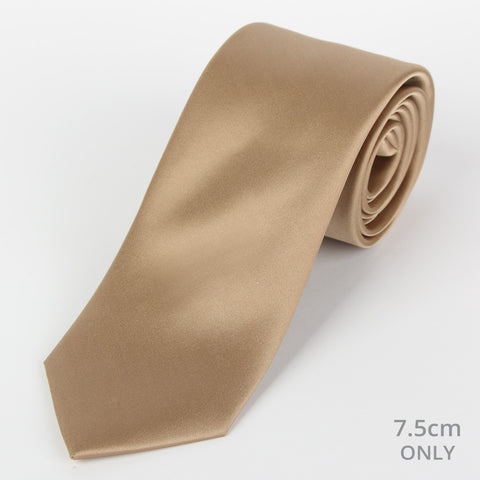 Silk Plain Tie Brown