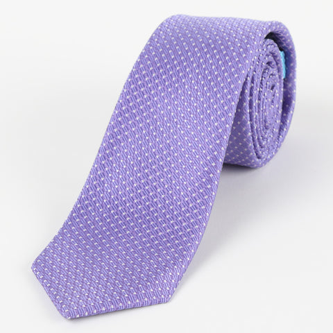 Silk Medium Dot Tie Purple