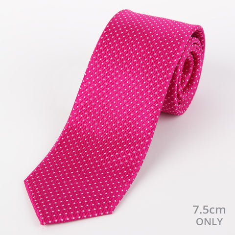 Silk Medium Dot Tie Fushsia