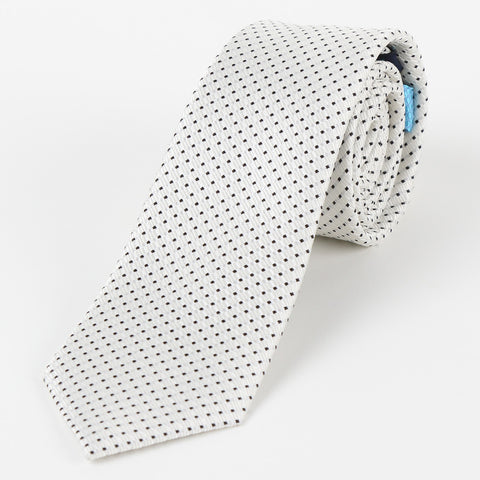 Silk Medium Dot Tie White