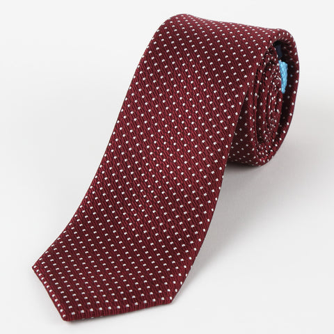 Silk Medium Dot Tie Burgundy
