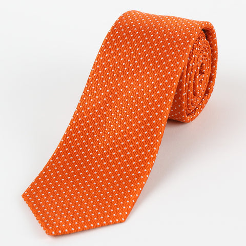 Silk Medium Dot Tie Orange