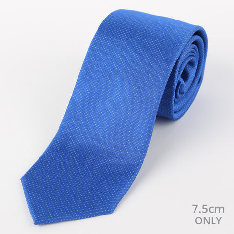 Silk Mini Dot Tie Cobalt