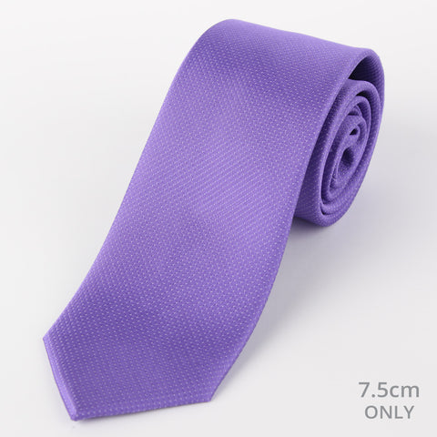 Silk Mini Dot Tie Purple