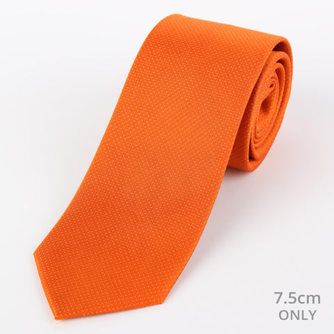 Silk Mini Dot Tie Orange