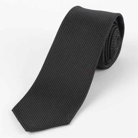 Silk Mini Dot Tie Black