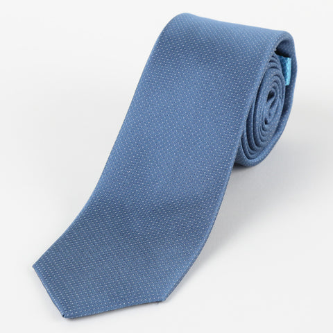 Silk Mini Dot Tie Blue