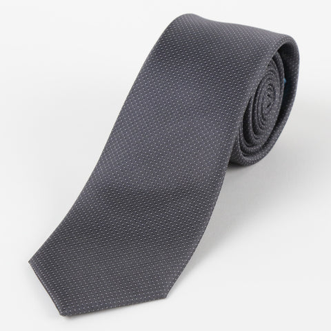 Silk Mini Dot Tie Grey