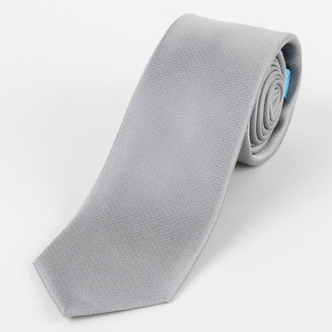 Silk Mini Dot Tie Silver