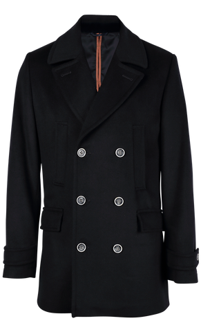 NOLAN PEA COAT NAVY