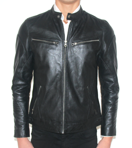 Belfast Leather Jacket Black