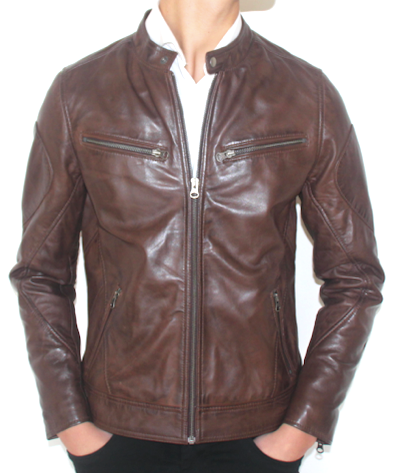 Belfast Leather Jacket Brown