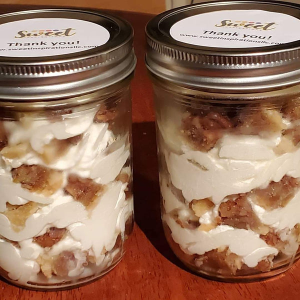 Large Pecan Pie Bites  Jar w/Vanilla Bean Whipped Cream Filling  16 oz. (4-pk)