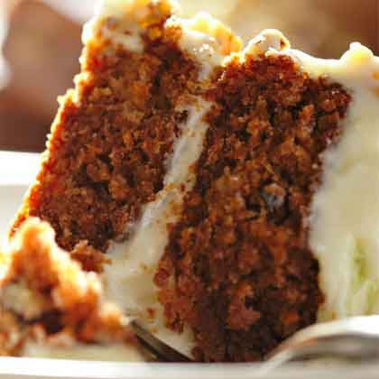 Pecan Carrot Cake with Cream Cheese Icing
