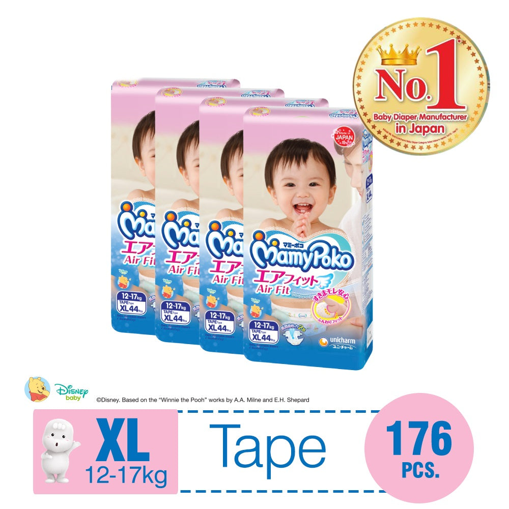 MamyPoko Air Fit Tape XL44 x 4 packs