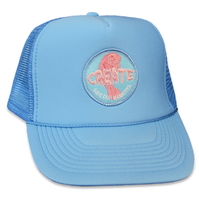 SAVE DUH Manatee Trucker Hat (Blue)