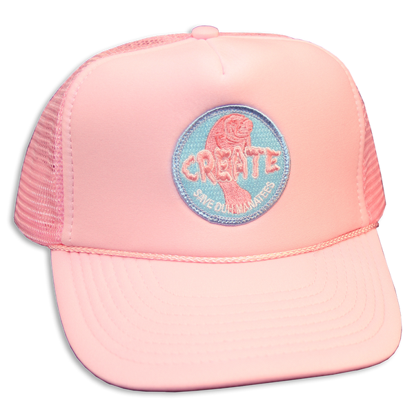 SAVE DUH Manatee Trucker Hat (Pink)