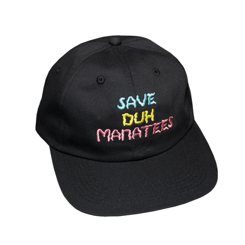 Save DUH Manatees Hat (Black Twill)
