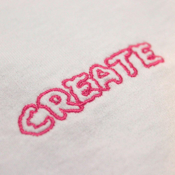 Create Skateboards White Manatee T (Pink)