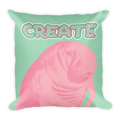 Mint Manatee Pillow